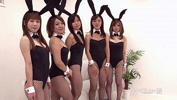 AV Bunny Japanese สาวน้อยสาวใหญ่รวมใจใส่ชุดกระต่ายน้อยบันนี่มารุมแทะควยผู้ชายโม๊คสดไม่มีเซ็นเซอร์