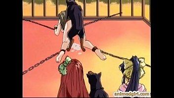 ซาดิสขั้นเทพ การ์ตูนหื่น แหกหีให้หมาเย็ด จับขึงแล้วให้หมาลงแขก น้ำเงี่ยนแตกเต็มท้อง โดนข่มขืนโดยสัตว์