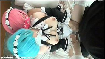 หนังโป๊เอวีคอสเพล Re:zero สวิงกิ้งสาวฝาแฝด แต่งชุดCosplay โดนเสียบหี โดนเย็ดโทษฐานทำให้เงี่ยน